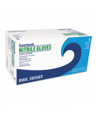 Boardwalk Disposable General-Purpose Nitrile Gloves, Small, Blue, 100/Pack