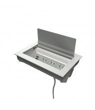 "Ellora B 3-Power Outlet & 2-USB Charging Port Power Module 72"" Cord, Matte Fog"