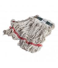 Rubbermaid Medium Looped-End Mop Head, White, Pack of 6