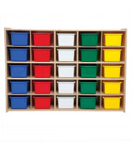 Wood Designs Contender 25 Tray Storage Unit with Trays, RTA (Shown with Assorted Trays)