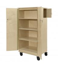 Wood Designs Contender Teacher's Four Cubby Locking Cabinet