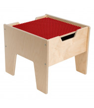 Wood Designs Contender 2-N-1 Activity Table with Red DUPLO Compatible Top, RTA