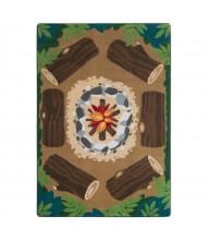Joy Carpets Campfire Fun Rectangle Classroom Rug