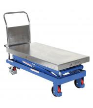 Vestil Manual Hydraulic Double Scissor Elevating 220 to 1500 lb Load Lift Carts