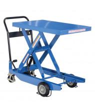 "Vestil 300 lb Load 23.6"" x 35.4"" Heavy Duty Premium Single Scissor Lift Cart"