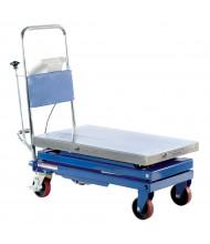 "Vestil Steel Scissor Cart with Built-In Scale 500 lb Load 19.5"" x 32"""