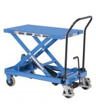 "Vestil 600 lb Load 19.75"" x 33"" Heavy Duty Premium Single Scissor Lift Cart"