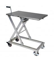 """Vestil Mechanical Partially Stainless Steel Scissor Cart 660 lb Load 23.5"""" x 37"""""""