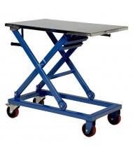 "Vestil Mechanical Steel Scissor Cart 660 lb Load 23.6"" x 37.4"""