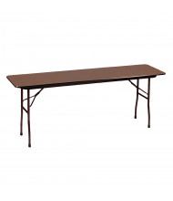 "Correll 96"" W x 18"" D x 29"" H Rectangular 0.75"" High Pressure Top Folding Table (Shown in Walnut)"