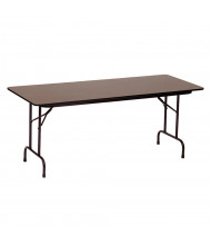 "Correll 48"" W x 24"" D x 29"" H Rectangular 0.75"" High Pressure Top Folding Table (Shown in Walnut)"