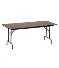 "Correll 96"" W x 24"" D x 29"" H Rectangular 0.75"" High Pressure Top Folding Table (Shown in Walnut)"
