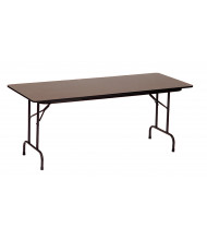"""Correll 72"""" W x 24"""" D x 29"""" H High-Pressure Top Plywood Folding Table"""