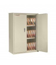 """FireKing Fireproof 44"""" H End-Tab File Cabinet, Legal-Size (Shown in Parchment)"""