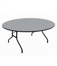 "Correll 60"" Round Melamine Folding Table (Shown in Granite)"