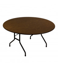 """Correll 60"""" Round 0.75"""" High Pressure Top Folding Table (Shown in Walnut)"""