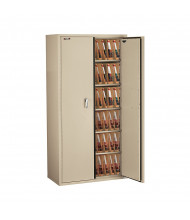 """FireKing Fireproof 72"""" H End-Tab File Cabinet, Legal-Size (Shown in Parchment)"""