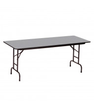 """Correll 48"""" W x 24"""" D Height Adjustable 22"""" to 32"""" Rectangular Melamine Folding Table (Shown in Granite)"""