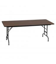 "Correll 96"" W x 30"" D Height Adjustable 22"" - 32"" Rectangular 0.75"" High Pressure Top Folding Table, Walnut"