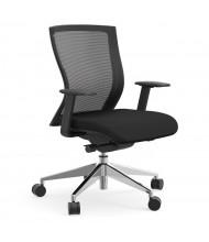 Cherryman idesk Oroblanco Mesh-Back Fabric Mid-Back Task Chair (Shown in Black)
