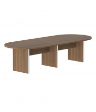 Cherryman Amber 12 ft Racetrack Expandable Conference Table (Shown in Walnut)