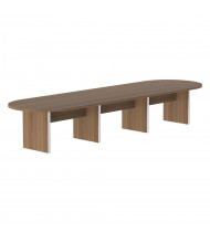 Cherryman Amber 14 ft Racetrack Expandable Conference Table (Shown in Walnut)