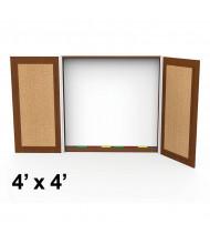 Cherryman Jade 4 W x 4 H Presentation Conference Room Cabinet (Shown in Cherry)