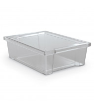 """Mooreco Essentials 10"""" W x 14"""" D x 4"""" H Plastic Storage Tubs, 6-Pack (Shown in Clear)"""