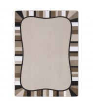 Joy Carpets Colorful Accents Rectangle Classroom Rug, Neutral