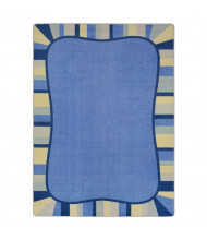 Joy Carpets Colorful Accents Rectangle Classroom Rug, Pastel