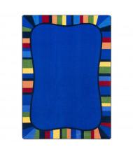 Joy Carpets Colorful Accents Rectangle Classroom Rug, Rainbow
