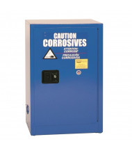 Eagle CRA-1925 Manual One Door Close Corrosives Acids Safety Cabinet, 12 Gallons, Blue