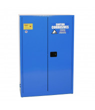 Eagle CRA-45 Sliding Self Close Two Door Corrosives Acids Safety Cabinet, 45 Gallons, Blue