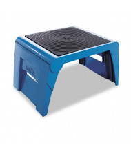 Cramer 1 Step Folding Step Stool, Plastic, Blue