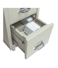 """FireKing 4"""" H x 6"""" W Card Cross Tray for 31"""" D Letter Files (Shown in Parchment)"""