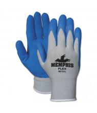 Memphis Flex Seamless Nylon Knit Gloves, Medium, Blue/Gray, 12/Pair