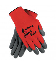Memphis Ninja Flex Latex-Coated Palm Gloves N9680M, Small, Red/Gray, 12/Pair