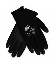Memphis Ninja HPT PVC coated Nylon Gloves, Medium, Black, 12/Pair