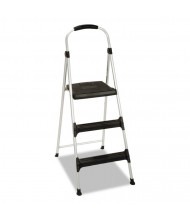 Cosco 3 Step Working Height Step Stool, Aluminum, Platinum/Black