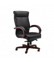 Mayline Mercado Corsica CS Genuine Leather High-Back Wood Executive Office Chair (Shown in Sierra Cherry)
