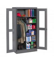 Tennsco Deluxe C-Thru Combination Wardrobe and Storage Cabinets (Medium Grey)