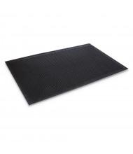 """Crown-Tred 43.75"""" x 66.75"""" Rubber Back Indoor/Outdoor Scraper Floor Mat, Black"""