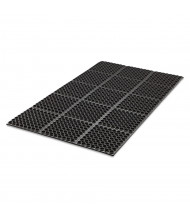 Crown Safewalk 3' x 5' Rubber Back Heavy-Duty Anti-Fatigue Drainage Floor Mat, Black