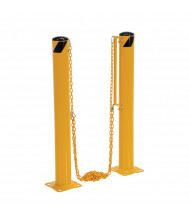 """Vestil 5.5"""" Round 42"""" H Dock Chain Barrier Bollard System DCBB-42-5.5"""