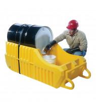 Vestil DHDC-66 30 & 55-Gallon Drum Dispensing Spill Containment Cart, 66 Gal, 600 lb Load