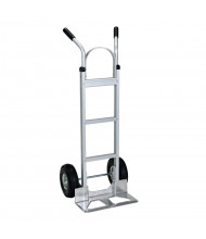 """Vestil DHHT Dual Handle 300-500 lb Load Hand Trucks (Shown with Pneumatic Wheels/18"""" W x 7.5"""" D Nose Plate)"""