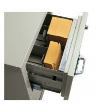 """FireKing 2-Section Insert for 3 1/4"""" H x 7 3/8"""" W IBM Cards (Shown in Parchment)"""