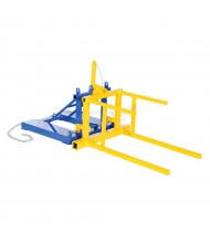 Vestil DRUM-P-55 800 lb Load 55-Gallon Steel Drum Positioner Forklift Attachment