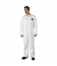 DuPont Tyvek Coveralls, Open Wrist/Ankle, HD Polyethylene, White, 3X-Large, 25/Pack