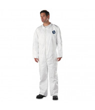 DuPont Tyvek Coveralls, Open Wrist/Ankle, HD Polyethylene, White, X-Large, 25/Pack